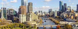 beautiful view of Melbourne city