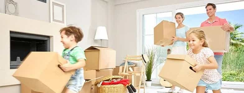 entire family preparing for a household relocation